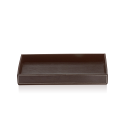 BROWNIE TAB L cuir brun - Decor Walther