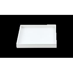 BROWNIE TAB Q cuir blanc - Decor Walther