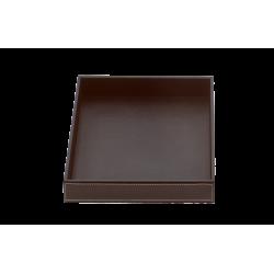BROWNIE TAB Q cuir brun - Decor Walther