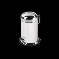 TE30 blanc - inox poli - Decor Walther