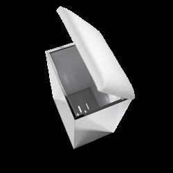 CASE HK2 inox poli - blanc - Decor Walther