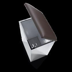 CASE HK2 inox poli - marron foncé - Decor Walther