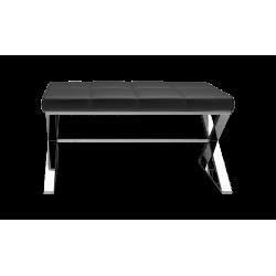 BENCH noir - chrome - Decor Walther