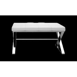 BENCH blanc - chrome - Decor Walther