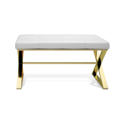 BENCH blanc - or - Decor Walther