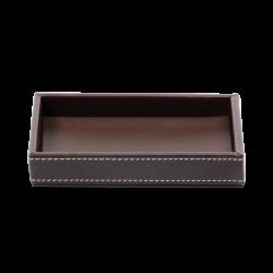 BROWNIE TAB S / cuir brun