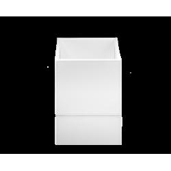 BROWNIE BOD1 cuir blanc - Decor Walther